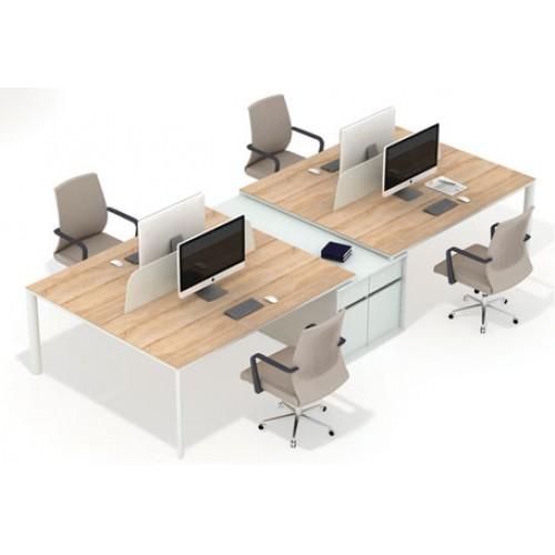 Diva Ofis Lotus 4lü Çalışma Masası Kesonlu