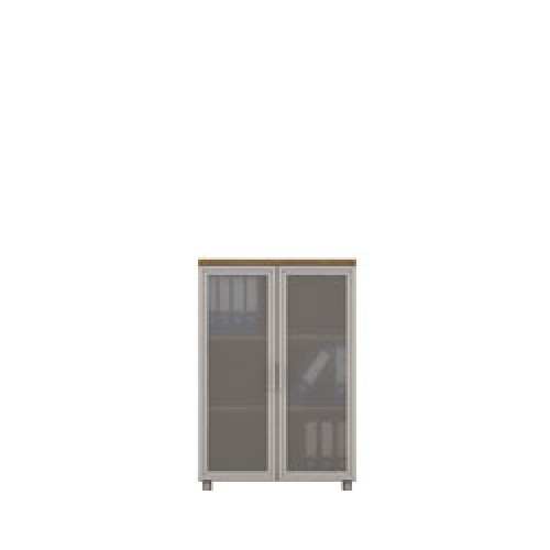 Diva Ofis 120X75 cm Cam Kapaklı Dolap