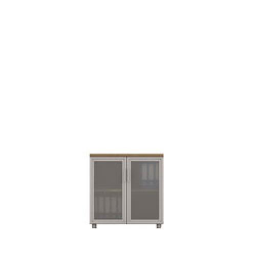 Diva Ofis 80X75 cm Cam Kapaklı Dolap
