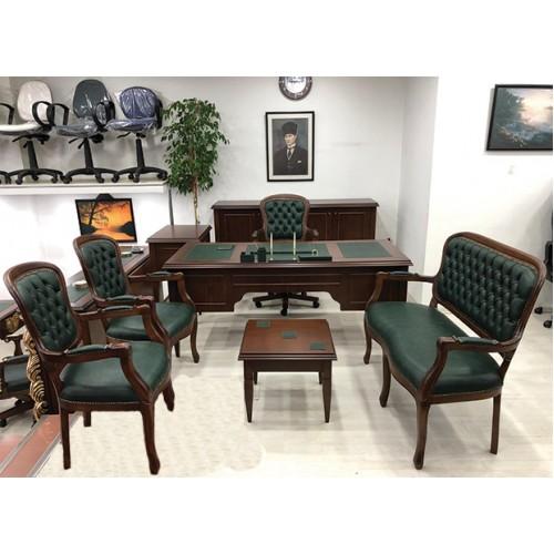 Diva Ofis Rustik Klasik Makam Masa Takımı